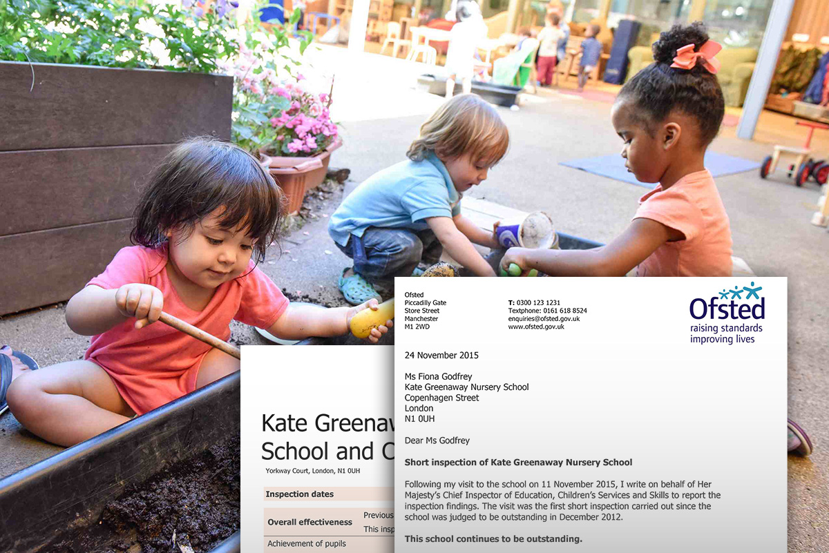 ofsted outstanding kate greenaway